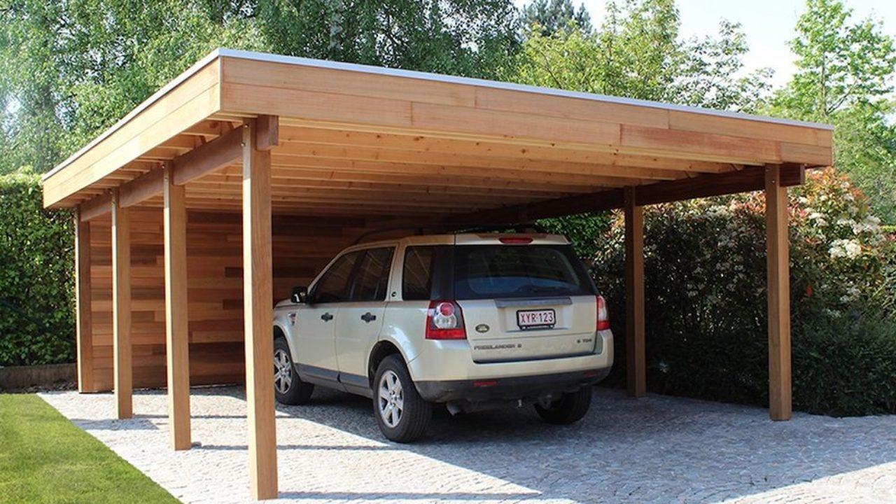 Abris En Bois A Monter en bois ou en métal : quel est le meilleur abri de voiture ?